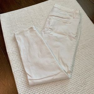 Mossimo White High Rise Jegging Crop 10/30R